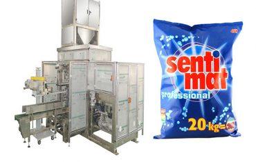 vaskemiddelpulver åpen munn bagger premade storpose pakke maskin
