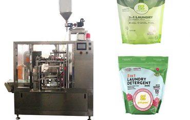 vasketøy væske roterende premade pose pakke maskin